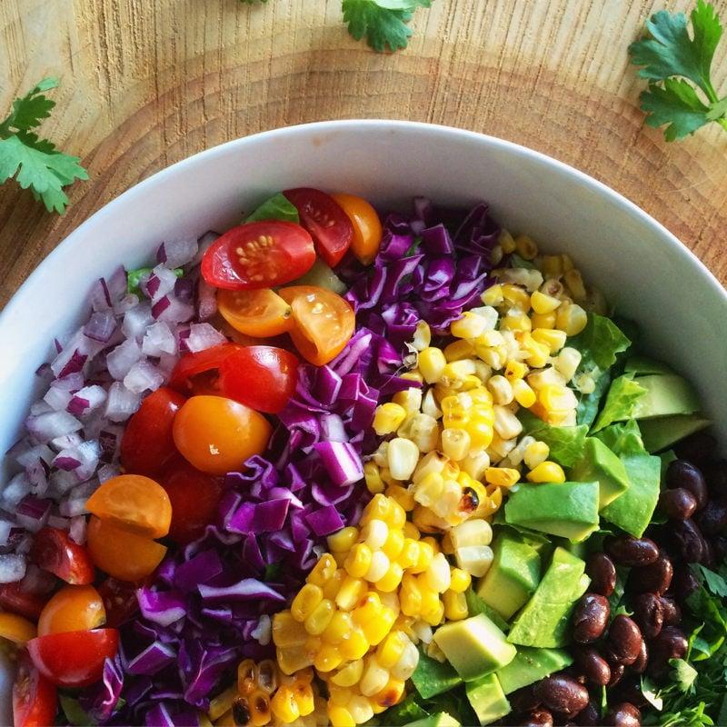 healthy mexican rainbow salad   www.nyssaskitchen.com