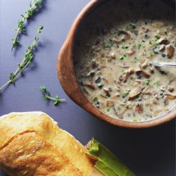 simple cream of mushroom soup with fresh herbs | www.nyssaskitchen.com