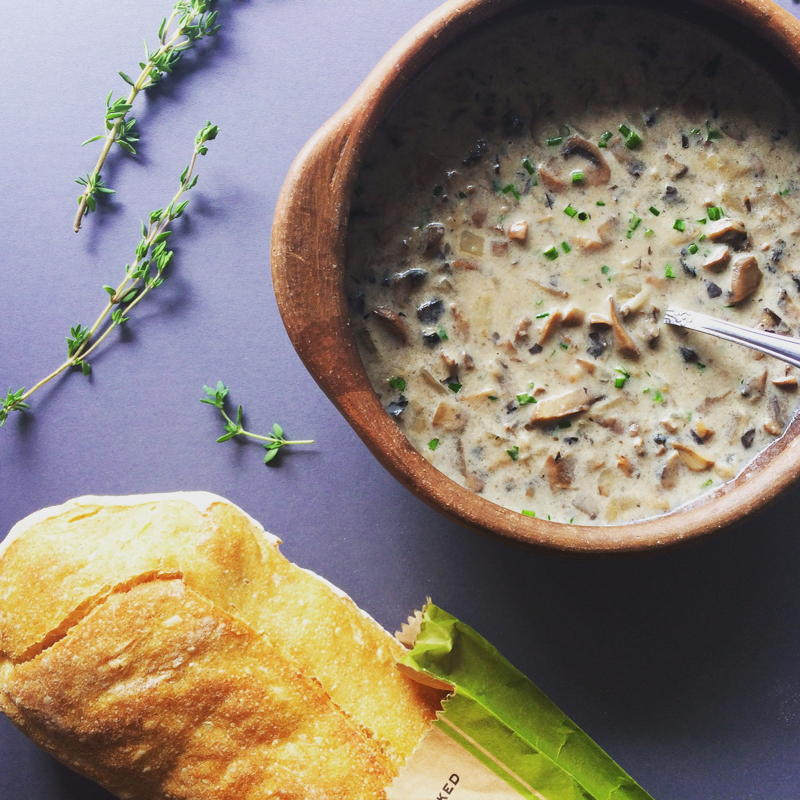 cream of mushroom soup with fresh herbs | www.nyssaskitchen.com