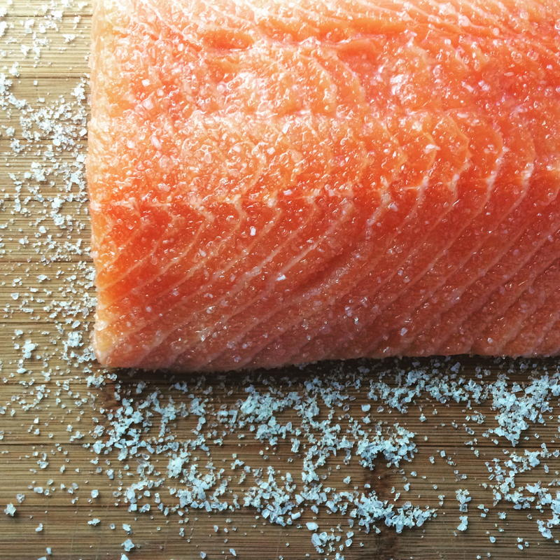 dry brined salmon for blackened salmon tacos | www.nyssaskitchen.com