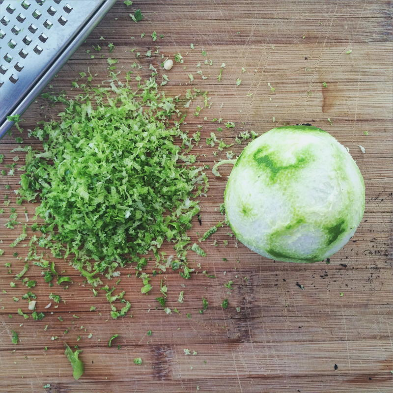 lime zest for dreamy green sauce | www.nyssaskitchen.com
