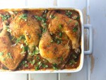 coconut braised chicken with tomatoes, kale and potatoes | www.nyssaskitchen.com