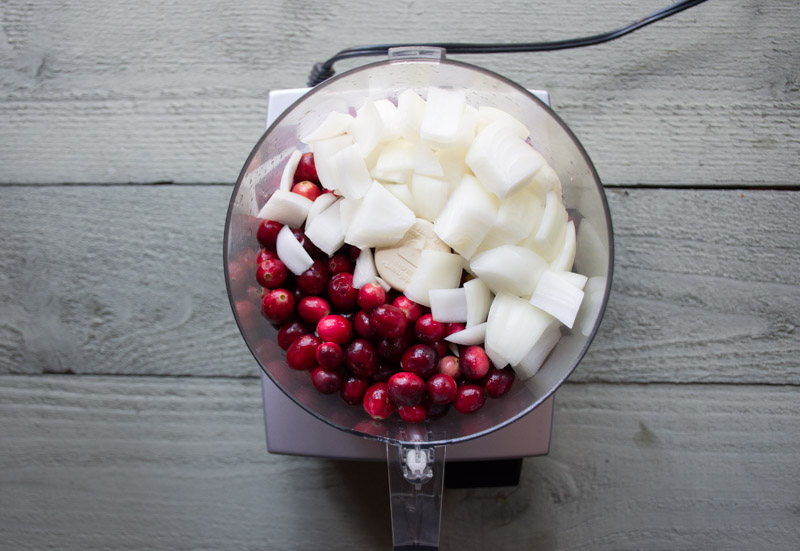cranberry relish with horseradish and sour cream | www.nyssaskitchen.com
