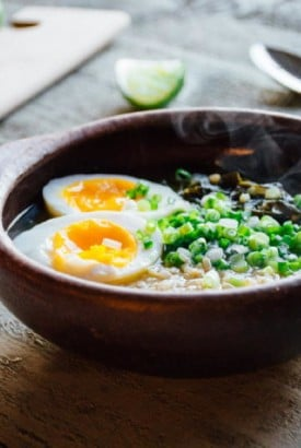 chard and rice soup with a 6 minute egg + lime | www.nyssaskitchen.com