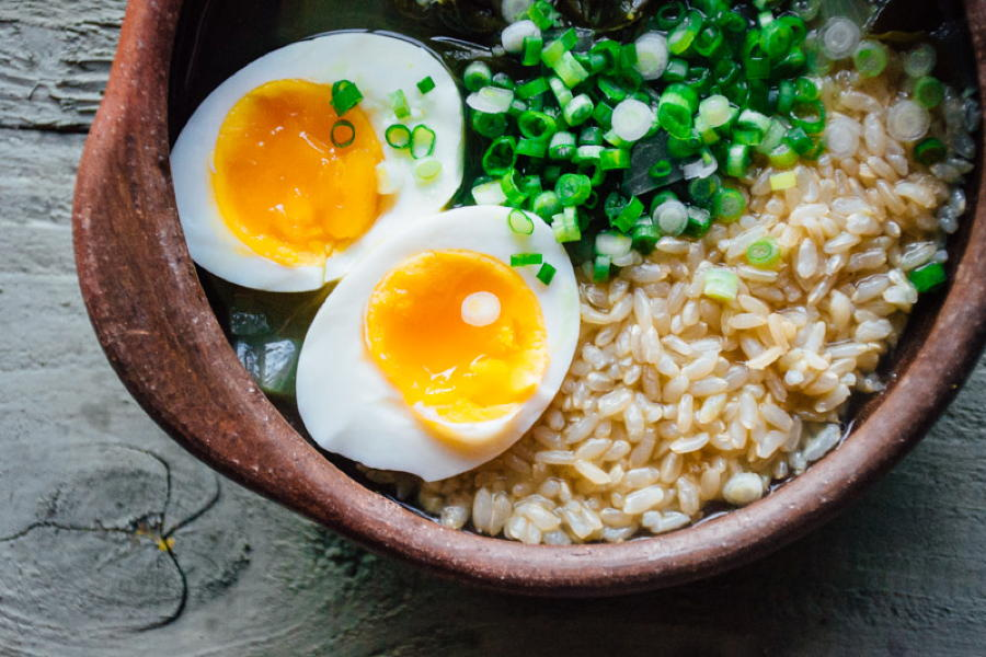 chard and rice soup with a six minute egg + lime   www.nyssaskitchen.com
