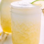 a blended fresh pineapple margarita sweetened naturally with honey! refreshing and easy to make at home, this drink will have you doing the happy dance!   www.nyssaskitchen.com