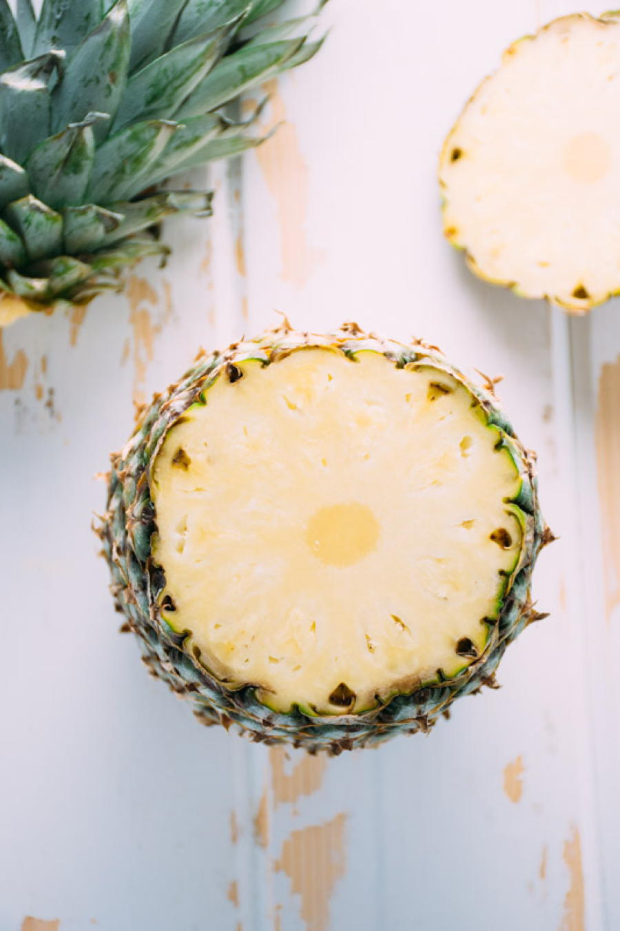 a recipe for blended fresh pineapple margarita's for two! sweetened naturally with honey. refreshing and easy to make at home, this drink will have you doing the happy dance! | www.nyssaskitchen.com