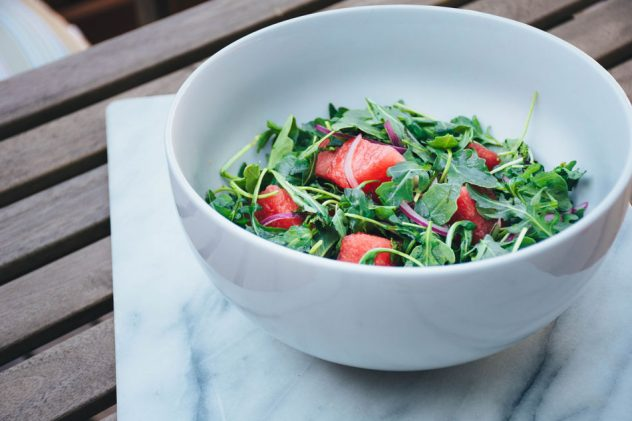 watermelon-and-arugula-salad-with-mint-and-red-onion
