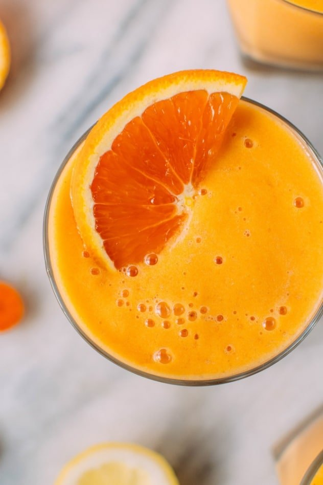 Probiotic turmeric mango carrot citrus smoothie is loaded with vitamins, minerals, antioxidants and beneficial bacteria to get your mind and body off to an extraordinary start every day!