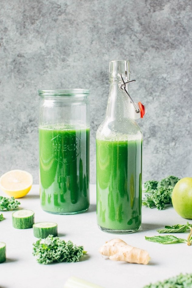 Delicious and vibrant green juice without a juicer is possible with this easy blender recipe!