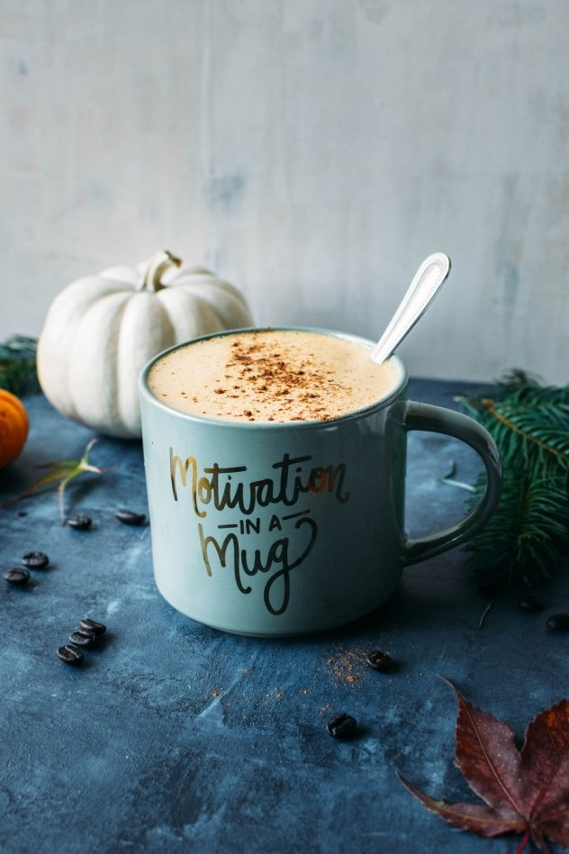 Bulletproof pumpkin pie spice latte! A perfectly indulgent and healthy way to get in the spirit of fall and supercharge your morning coffee routine.