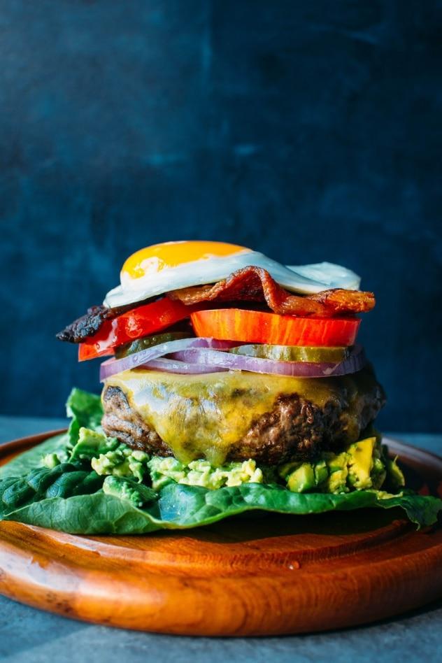 The Ultimate Bunless Burger Paleo Gluten Free Nyssa S Kitchen