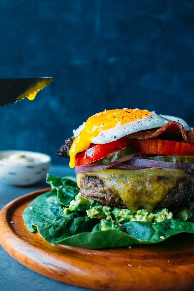 The ultimate bunless burger! For those nights when you just NEED a burger in your life. Paleo, guilt free, and super satisfying.
