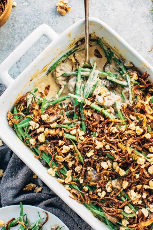 Grain Free Paleo Green Bean Casserole Paleo Vegan Nyssa S Kitchen