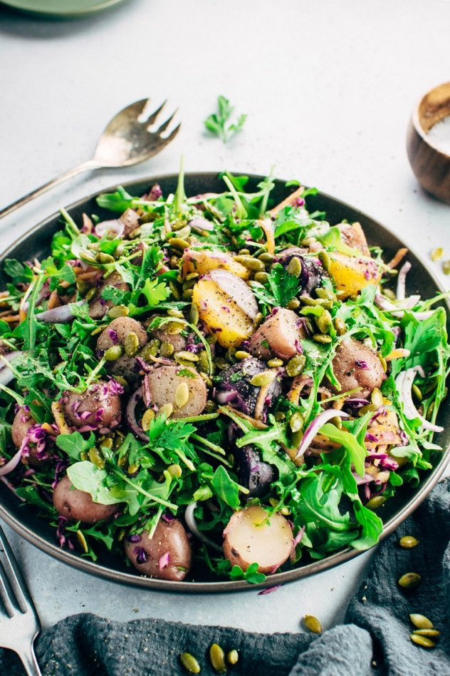 Colorful Winter Potato Salad