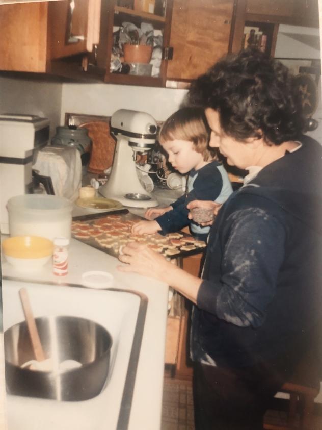 Making cookies with my sweet grandma