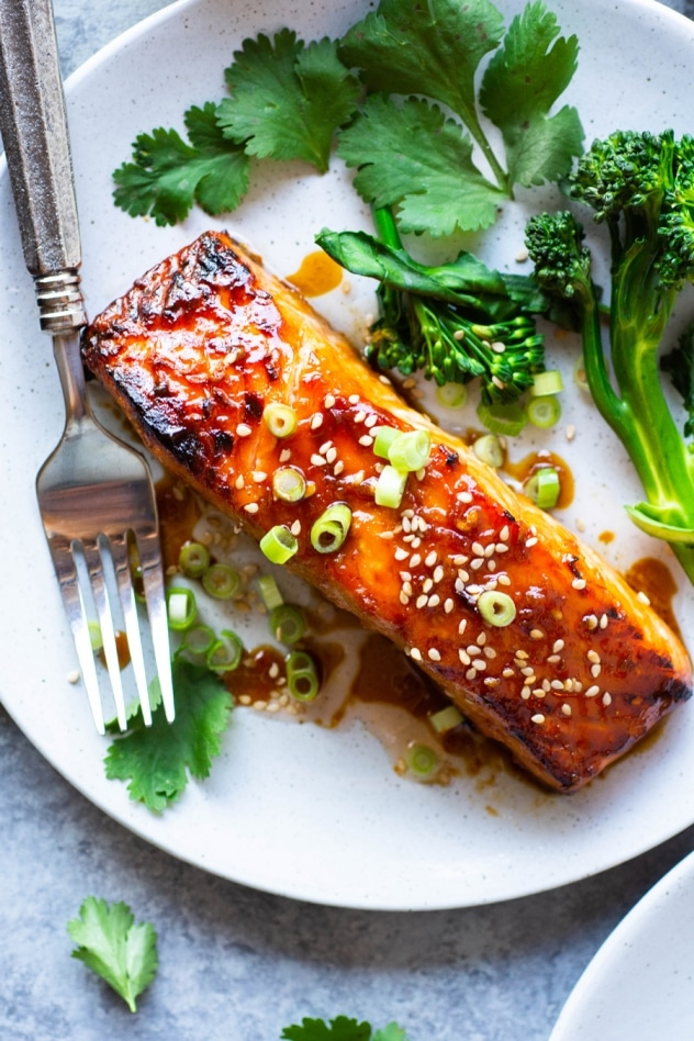 This easy paleo teriyaki salmon is made with a homemade teriyaki sauce that is so much better than any store bought version! It's a flavorful and healthy start to an easy, mostly hands off meal that you can feel good about!